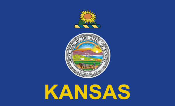 Kansasflagge,USA, Nationalflaggen