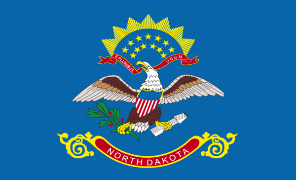 North Dakota flagge,USA, Nationalflaggen