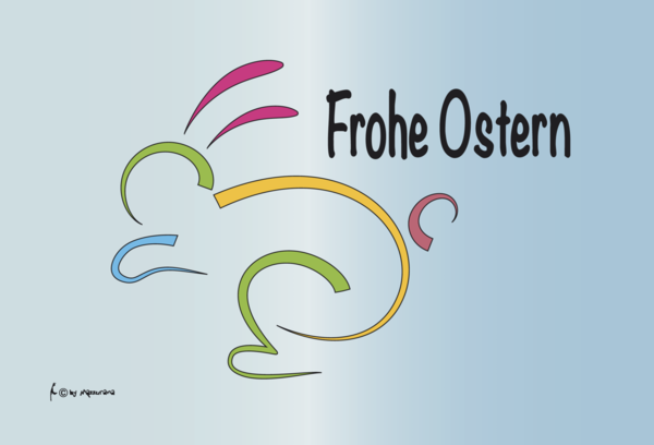 Frohe Ostern Strich Flagge, Osterflagge, Ostern