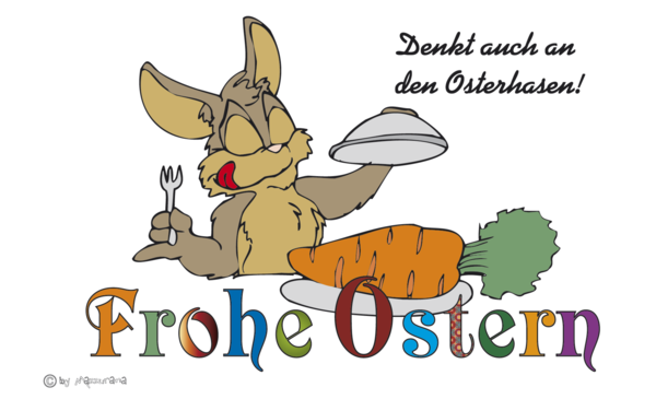 Frohe Ostern-Hase-Flagge, Osterflagge